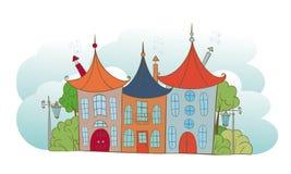 Landschap met fabelachtige huizen Royalty-vrije Stock Foto