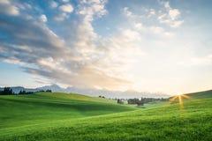 Landschap met groen gebied Royalty-vrije Stock Foto's