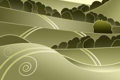 Landschap met heuvels vector illustratie