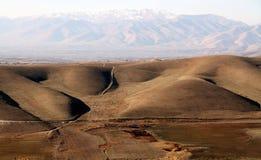 Landschap met heuvels Royalty-vrije Stock Afbeeldingen