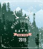 Landschap met Kerstmistype ontwerp Stock Afbeelding