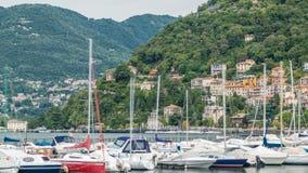 Landschap met Meer Como timelapse, Lombardije, Italië stock videobeelden