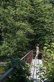 Landschap met meisje stock fotografie