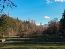 Landschap met mooie blauwe hemel wordt geschoten die royalty-vrije stock fotografie