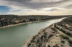 Landschap met rivier royalty-vrije stock afbeelding