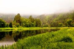 Landschap met rivier Royalty-vrije Stock Foto's