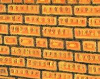 Landschap met rivier en bos Textuur van een bakstenen muur stock illustratie