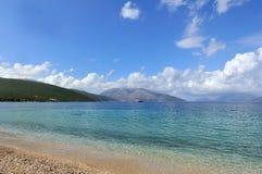 Landschap met strand Royalty-vrije Stock Afbeeldingen