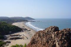 Landschap met stranden en de Indische Oceaan royalty-vrije stock fotografie