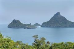 Landschap met tropische overzees en eilanden Stock Foto's