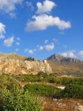 Landschap met watchtower Royalty-vrije Stock Afbeeldingen