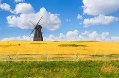 Landschap met Windmolen Royalty-vrije Stock Foto's