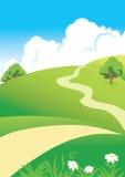 Landschap met wolken vector illustratie