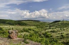 Landschap met Wolken Royalty-vrije Stock Foto's