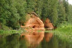 Landschap met zandsteen royalty-vrije stock foto's