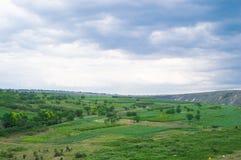 Landschap in Moldavië Stock Foto's