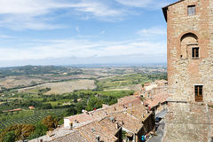 Landschap Montepulciano royalty-vrije stock foto's