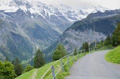 Landschap in Murren, Zwitserland Stock Afbeeldingen