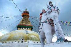 Landschap in Nepal Stock Afbeeldingen