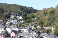 Landschap Neuerburg in Eifel Stock Foto