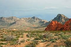 Landschap in Nevada vóór onweer Stock Foto