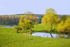 Landschap in Noord-Duitsland stock afbeeldingen