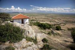 Landschap in Noord-Griekenland (Evros) Stock Foto's