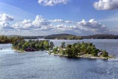 Landschap op de archipel van Stockholm Stock Afbeelding