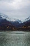 landschap op de Donau in Cazanele de Mari-Republiek Royalty-vrije Stock Foto's