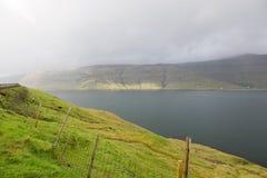 Landschap op de Faeröer royalty-vrije stock afbeeldingen