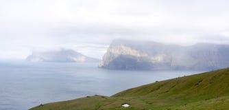 Landschap op de Faeröer royalty-vrije stock fotografie
