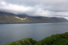 Landschap op de Faeröer stock foto's