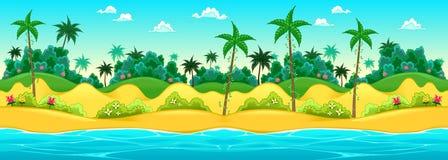 Landschap op de kust royalty-vrije illustratie