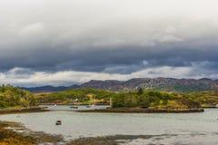 Landschap op de weg aan Gairloch, wester Ross royalty-vrije stock afbeeldingen