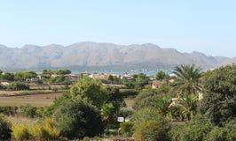 Landschap op het Eiland Mallorca Stock Afbeelding