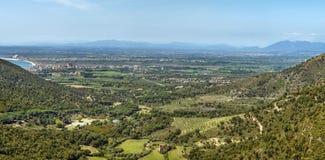 Landschap op het gebied van Rozen, Spanje stock afbeeldingen