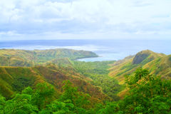 Landschap op heuvel royalty-vrije stock afbeelding