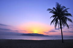 Landschap op strand royalty-vrije stock foto