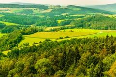 Landschap Panaroma in Zuidelijk Duitsland Royalty-vrije Stock Foto's
