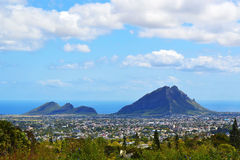 Landschap Panoramisch Mauritius Island Mountains Stock Afbeeldingen