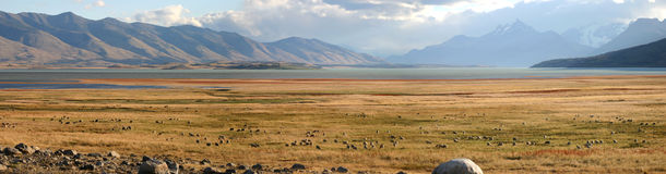 Landschap in Patagonië Stock Afbeeldingen