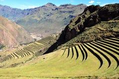 Landschap in Pisac in de Urubamba-vallei royalty-vrije stock afbeelding