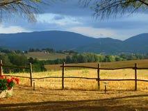 Landschap in platteland Stock Foto's