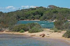Landschap in platteland in Caprera royalty-vrije stock afbeelding