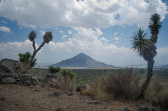 Landschap in Puebla, Mexico Stock Afbeeldingen