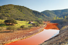 Landschap Rio Tinto, Huelva, Spanje royalty-vrije stock foto