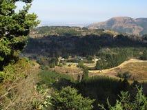 Landschap rond Hogsback uit de naamloze heuvel in de vroege lente, Zuid-Afrika wordt genomen dat Royalty-vrije Stock Afbeeldingen