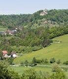 Landschap rond Kasteel Tierberg Stock Foto's