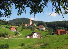 Landschap in Schwarzwald Royalty-vrije Stock Afbeelding