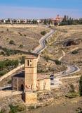 Landschap in Segovia, Spanje royalty-vrije stock afbeelding